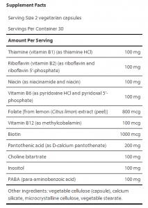 B vitamin supplement from LEF